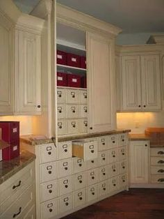Wow!!!!!!!  All those drawers!  I wonder what the measurements of the drawer interiors are?  Too small or too large for one's supplies could be extremely limiting.