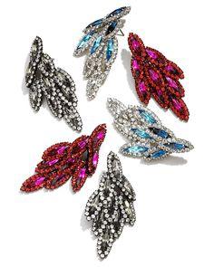 Elizabeth Cole Bacall Swarovski Crystal Earrings | Bloomingdale's