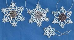 Tatting Lace in Grace: My Patterns - Tatted Doodad Snowflakes - Free pattern #tatting #snowflake