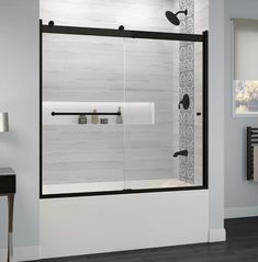 Basco Rotolo H x to W Semi-Frameless Bypass/Sliding Matte Black Bathtub Door at Lowe's. With its semi-frameless design and sleek header, the Basco Rotolo sliding tub door adds a modern touch to your shower enclosure. This door features a dual