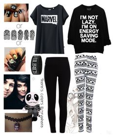 """with Dan and Phil"" by audrey-panda ❤ liked on Polyvore featuring Burton, Alexander McQueen, Uniqlo and Pieces"