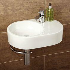 HIB Saville Oval Cloakroom Basin Complete with chrome towel rail