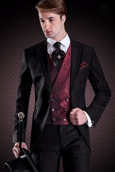 Wedding Suit Latest Coat Pant Designs Black Double Breasted Italian Pattern Custom Wedding Suits For Men Groom Slim Fit 3 Pieces Masculino Mens Fashion Suits, Mens Suits, Terno Slim, Custom Tuxedo, Mode Costume, Style Masculin, Black Italians, 3 Piece Suits, Men's Grooming