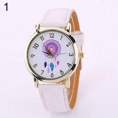 Hot Fashion Women Dream Catcher Watch Feathers Dial Faux Leather Analog Quartz Wristwatch #Affiliate