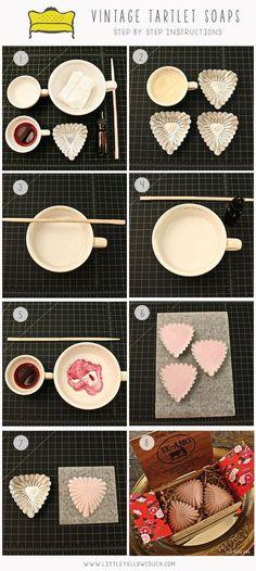 Valentine's Day Vintage Tartlet Heart Soaps #ValentinesDay