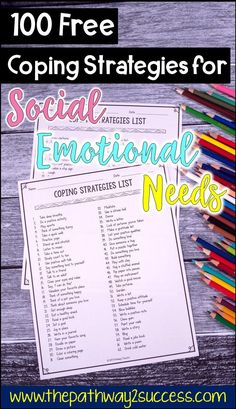Kids and teens need healthy coping strategies to help them manage stress, anger, anxiety, and other tough emotions! This can help students have the right tools in their toolbox to manage these feelings. Use this free printable list to help learners practice skills like deep breathing, listening to music, using positive self-talk, writing in a journal, & more. Integrate social emotional learning mental health supports! #copingstrategies #pathway2success #copingskills