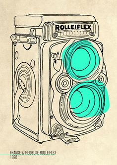 A History Of Cameras by Lucy Kelly, via Behance