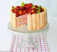 Light yet cakey, everyone can make room for a piece of Strawberry Charlotte!