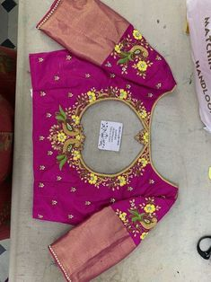 64 Trendy Ideas Embroidery Blouse Designs Simple Machine Source by jillverley designs Cutwork Blouse Designs, Kids Blouse Designs, Wedding Saree Blouse Designs, Pattu Saree Blouse Designs, Hand Work Blouse Design, Simple Blouse Designs, Stylish Blouse Design, Blouse Neck Designs, Hand Designs