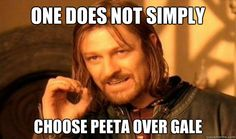 one does not simply choose peeta over gale - Boromir