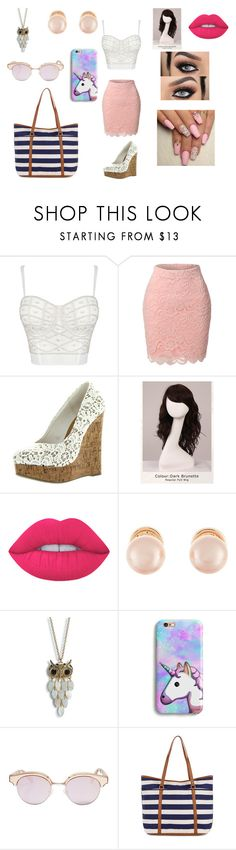 """Park with friends"" by hannah-may-malone on Polyvore featuring LE3NO, WigYouUp, Lime Crime, Kenneth Jay Lane, Aéropostale, Le Specs and Monsoon"