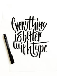 Hand lettering / Typography / Font / White & Black