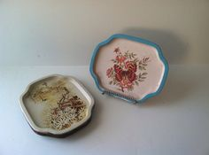 Shabby Chic Tin tray collection- set of 6 on Etsy, $25.00