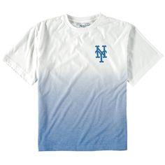 New York Mets Wright & Ditson Youth Horizon Dip-Dyed T-Shirt - White/Royal - $26.39