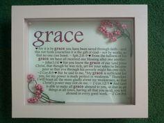 Baby shower gift for a little girl named Grace. :)