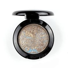 EyeshadowDAXUN Single Shade Baked Eye Shadow Powder Palettes Long Lasting Powder in Shimmer 12 Metallic Colors Optional Madrid Golden -- Check this awesome product by going to the link at the image. (This is an affiliate link) #MakeupEyeshadow