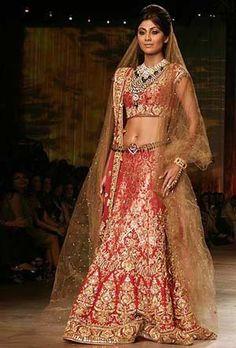 Shilpa Shetty in Tarun Tahiliani's Bridal Collection