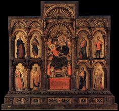 Lorenzo Veneziano -Polyptych of Santa Maria della Celestia,1351-1400,tempera on wood, 72 cm (28.3 in) x 29 cm (11.4 in). (centre), Pinacoteca di Brera, Milan (1187×1100)