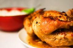 Pollo al horno a la sidra