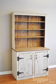 Farmhouse Hutch Before + After