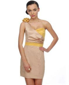 Hopefully wearing this to my sorority formal (our colors are green and yellow/gold)