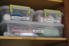 Medicine Cabinet Organization by Kreative Kitz