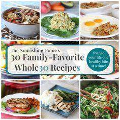 30 Favorite Whole30 Recipes