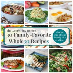 From tasty grain-free breakfasts and lunch ideas to quick and easy dinner recipes that the whole family will enjoy, this helpful recipe round-up features 30 family-favorite Whole30 recipes!