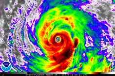 Animated infrared satellite imagery of Super Typhoon Vongfong on Thursday. (NOAA)
