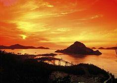 군산 선유도 Celestial, Sunset, Water, Travel, Outdoor, Universe, Gripe Water, Outdoors, Viajes