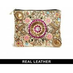 Ik vond dit op Beslist.nl: ASOS Leather Embellished Zip Top Clutch Bag}