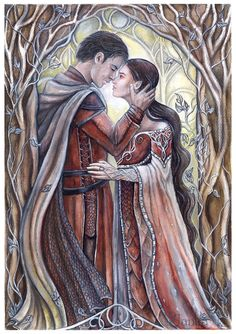Берен и Лутиэн  Beren and Luthien by jankolas on DeviantArt