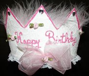 Birthday Party Pink Marabou Crown