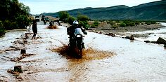flash flooding in the Gorges du Ziz in Morocco. An article about motorcycle travel in Morocco through  Iberian Moto Tours was published in the March 2005 issue of Rider magazine.