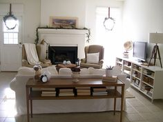 The Pear Tree Cottage: Before and After Family/ Living Room
