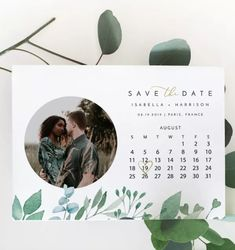 Announce your upcoming wedding with one of the best save the dates out there—especially one that represents who you are as a couple. Calendar save the date. Wedding Stationary, Wedding Invitations, Save The Date Online, Glamour Shop, Paperless Post, Old Hollywood Movies, Library Card, Wedding Website, Save The Date Cards