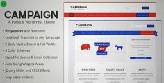 Download and review of Campaign - Political WordPress Theme, one of the best Themeforest Non-profit themes