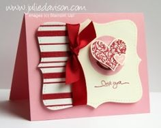 Julie's Stamping Spot -- Stampin' Up! Project Ideas Posted Daily: I {heart} Hearts Shaker Card by ClaudiaMaria