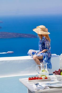 My ideal client enjoying her well earned vacation #Santorini Greece | #Luxury #Travel Gateway VIPsAccess.com