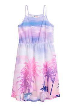 Patterned jersey dress - Pink/Palms - Kids | H&M GB 1