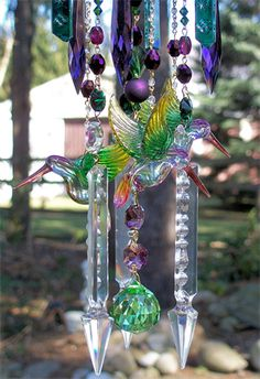 Wind Chimes Crystal Wind Chimes, Glass Wind Chimes, Diy Wind Chimes, Mobiles, Handmade Windchimes, All Things Crystal, Handmade Crafts, Diy Crafts, Wind Sculptures