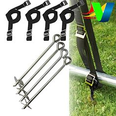 Trampoline Anchor Kit - Fixing Tie Down Kit set for windy days autumn - Fit to All Trampolines, Swings, Sea-saw, slides, Gazebo and Garden Furniture Verdi http://www.amazon.co.uk/dp/B017PMZKBO/ref=cm_sw_r_pi_dp_K7Urwb1XPJZSN