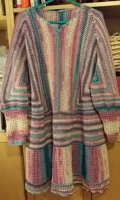 crochet hexagon top sweater virkad tröja av sexkanter