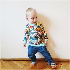 Bluzeczka z długim rękawem - BŁĘKITNY KOMIKS