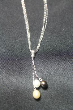 Sterling Silver Tassel Necklace with Freshwater Pearls