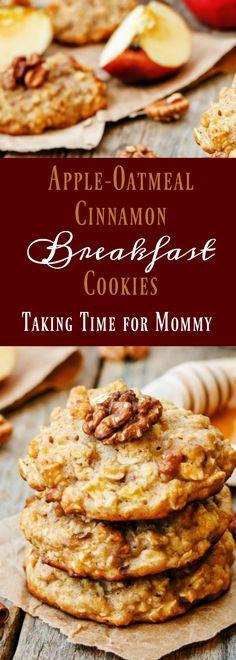 Apple-Oatmeal Cinnamon Breakfast Cookies -