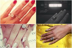 Pin the engagement ring on the celebrity. Which celebs do these blingy bits belong to?