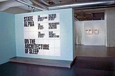 NAi Maastricht  State Alpha:  On the Architecture of Sleepexperimentaljetset_alpha_title