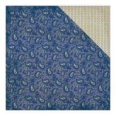 Authentique Paper - Rugged Four Navy & Antique Paisley/Mini Dot