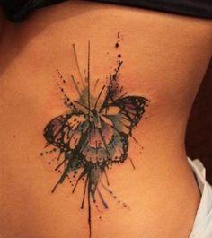 Znalezione obrazy dla zapytania watercolour butterfly tattoo